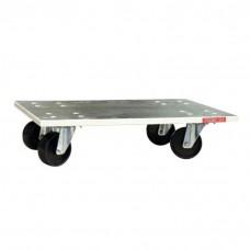 Plateau de manutention roulant antidérapant, 60 x 40 cm, charge 350 kg