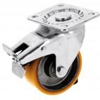 Roulette pivotante sur platine roue althane pour charges moyennes - Fortainer