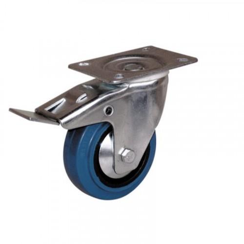 Roulette pivotante à blocage sur platine bandage caoutchouc pour charges moyennes - Port Roll / GUITEL HERVIEU