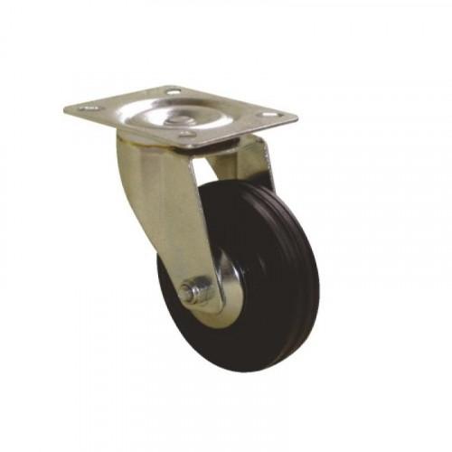 Roulette pivotante sur platine bandage caoutchouc pour charges légères - Port Roll / GUITEL HERVIEU