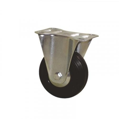 Roulette fixe sur platine bandage caoutchouc pour charges légères - Port Roll / GUITEL HERVIEU