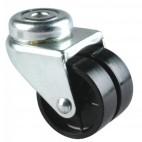 Roulette pivotante à blocage sur platine roue polypropylène pour charges légère - Port Roll / GUITEL HERVIEU