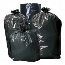 Sac poubelle noir 50 litres avec liens