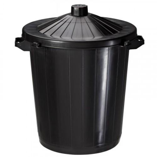 Poubelle plastique Réglisse 80 litres - ROSSIGNOL