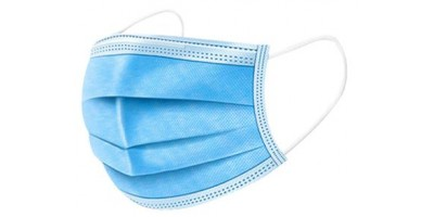 x50 Masques jetables 3 couches bleu ou rose