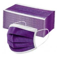 Lot de 50 masques chirurgicaux Noir, rose ou violet 3 couches