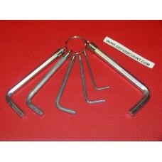 Jeu 6 clés Allen 2,3,4,5,6,7mm