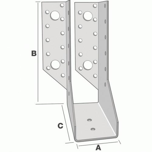 Sabot de charpente à une aile repliée intérieure - SIMPSON Strong-Tie