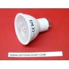 Ampoule LED GU10 7W 45w 4000K plastique blanc