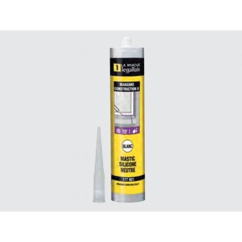 Mastic construction silicone neutre Makemo 300 ml - LEGALLAIS