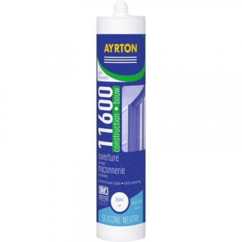 Mastic construction silicone neutre 11600 cartouche 300 ml - AYRTON