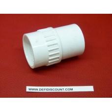 Raccord droit pvc blanc Swing DURA Femelle 32mm - Mâle 26x34