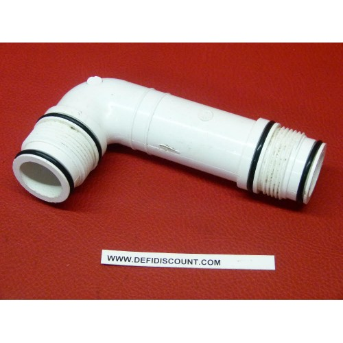 Coude raccord pvc blanc Swing avec joints toriques DURA MM 26x34