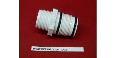 Adatateur droit raccord pvc blanc Swing avec joints toriques DURA Mâle 26x34 - Mâle 26x34