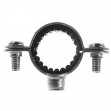 x8 Colliers simples isophoniques acier zingué pour tuyaux et tubes diamètre 32 mm