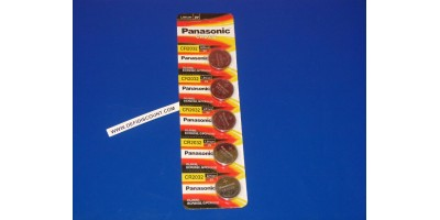 x5 Piles bouton CR2032 Panasonic 3v