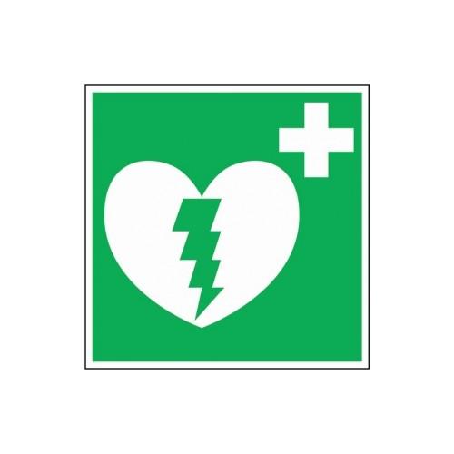 Panneau de consignes de sécurité défibrillateur - carré rigide