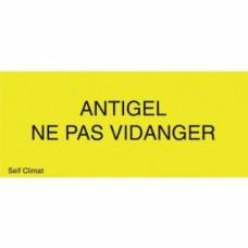 Panneau réglementaire Antigel