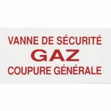 Panneau réglementaire ''Vanne gaz coupure générale''