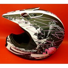 Casque cross THH Noir/rose