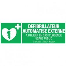 Panneau de consignes de sécurité défibrillateur - rectangles rigides