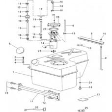 Pièces réservoir RS8 4x4 EFI Hsun