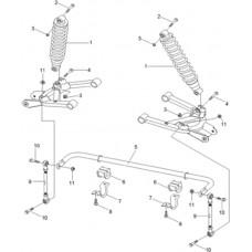 suspension arrière quad RS8 Hsun 4x4 EFI