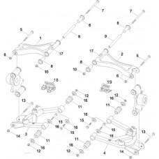 Triangles arrière quad RS8 4x4 EFI Hsun
