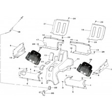 Carrosserie centrale RS8 quad EFI 4x4