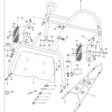 Ensemble arceaux quad RS8 4x4 EFI Hsun