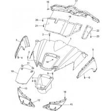 Carrosserie avant RS8 4x4 EFI pour quad