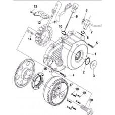 Cache carter gauche alternateur quad RS8 4x4 EFI