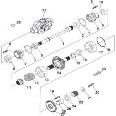 Arbre de transmission pièces Hsun RS8 4x4 EFI