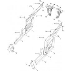 Carrosserie latéraux quad RS8 Hsun 4x4