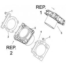 Cylindre culasse RS8 quad 4x4 EFI