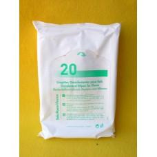 20 lingettes désinfectantes pour les sols