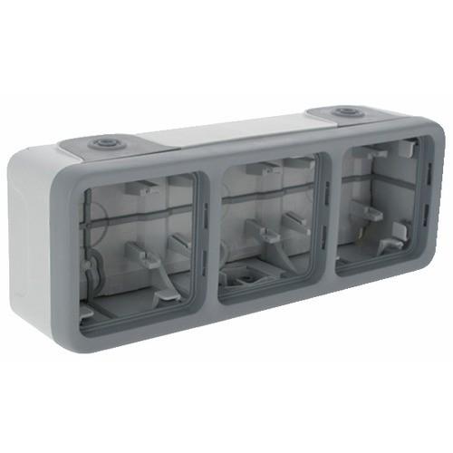 Boîtier Plexo composable 3 postes