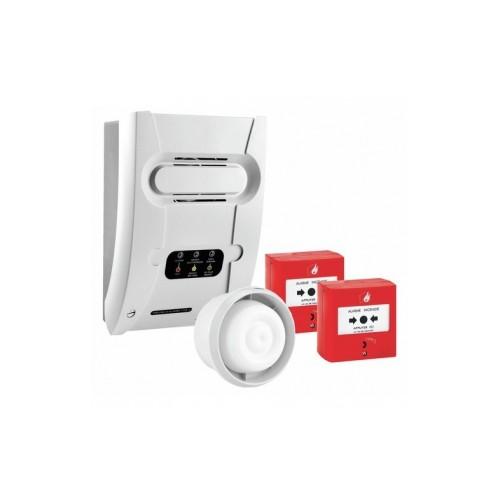 Kit tableau d'alarme incendie T4 CT 230V - secteur 1 boucle