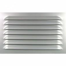 Grilles de ventilation à persiennes - aluminium anodisé - non percé