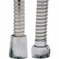 Flexible laiton double agrafage avec écrou tournant