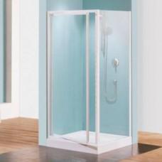 Porte douche pivotante verre transparent Riviera G - 78 à 82 cm