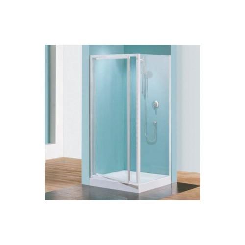 Paroi douche fixe verre granité Riviera F - réglable de 78 à 82 cm