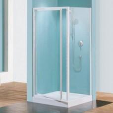 Paroi douche fixe verre transparent Riviera F - réglable de 78 à 82 cm