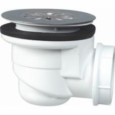 Bonde de douche à grille inox pour receveurs grès