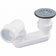 Bonde de douche polypropylène à grille avec siphon orientable